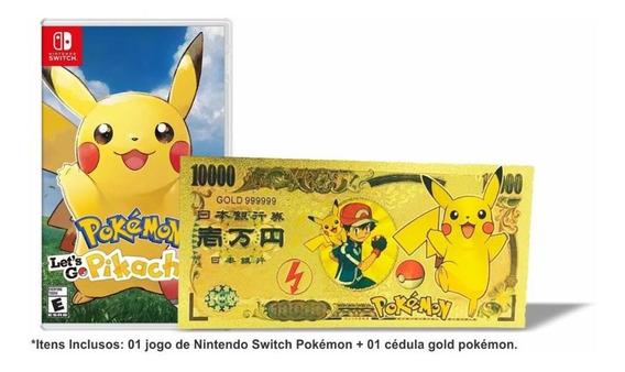 Pokemon Lets Go Pikachu! + Poke Money Switch Mídia Física