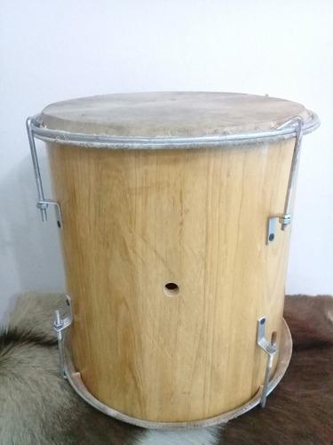 Tambor De Percusión Doble Cuero Modelo Golperas En Pino