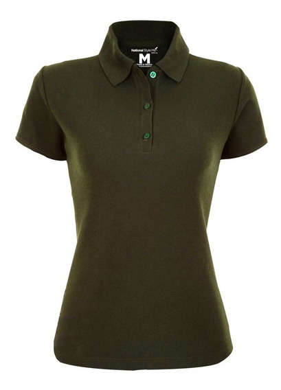 Playera Lisa Polo Dama Casual National Style