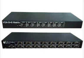 Vga Matrix 8x8 Switch Splitter C/ Áudio Pronta Entrega