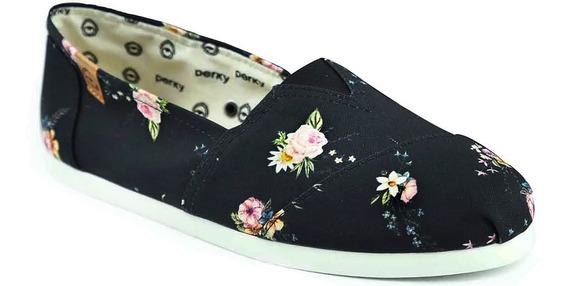 Alpargata Floral Perky Liberty Black