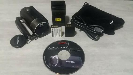 Filmadora 3d Toshiba Camileo Z100 3d Camcorder