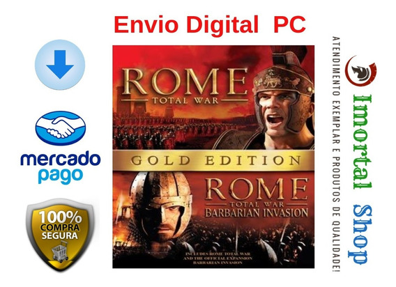 Rome Total War Gold Edition Envio Digital Imediato Pc