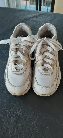 Zapatillas De Cuero Blanca Nike Air Max Talle 29