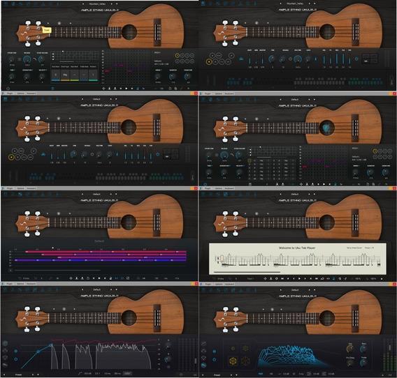 Pacote Ample Sound Guitar, Guitar Eletric, Bass Virtuais Vst