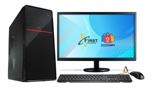 Imagem 1 de 2 de Cpu Intel I5 8gb Hd 500gb Monitor 21,5 Hdmi, Teclado Wifi