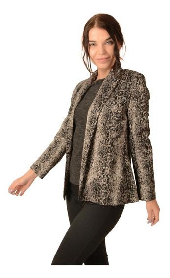 Saco Blazer Casual Dama Mujer Animal Print Moda Vestir