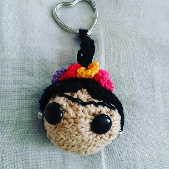 Llavero Frida Crochet Amigorumi Hecho A Mano