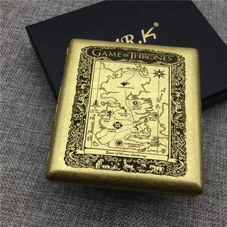 Estuche Porta Cigarros Game Of Thrones Metálico - Grabado