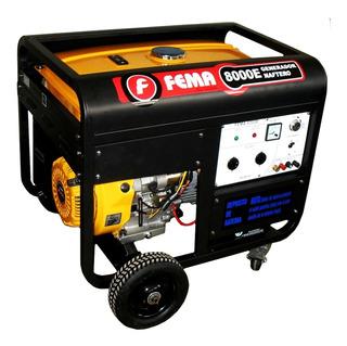 Generador Eléctrico Trifásico Fema 6500w 8kva 25lts 16 Hp