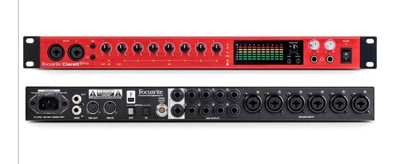 Interface De Áudio Thunderbolt Focusrite Clarett 8pre 18x20