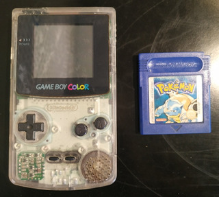Consola Gameboy Color Transparente Con Juego Pokemon