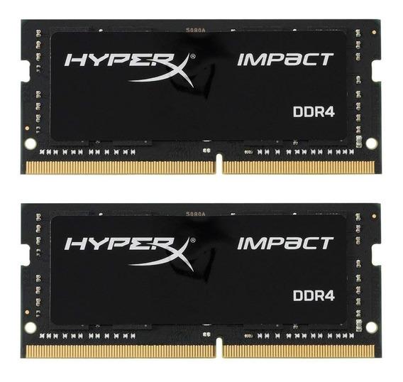 Memoria Ram Hyperx Kingston Technology Impact 32gb Kit (2x16gb) 2400mhz Ddr4 Cl14 260-pin Sodimm Hx424s14ibk2/32