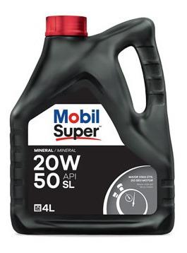 Aceite De Motor Mobil 4 Litros 20w50 Mineral Mobil Super 100