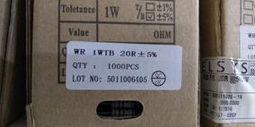 Resistor Wr 1wtb 20r 1/4w 5% 1000 Peças Pronta Entrega