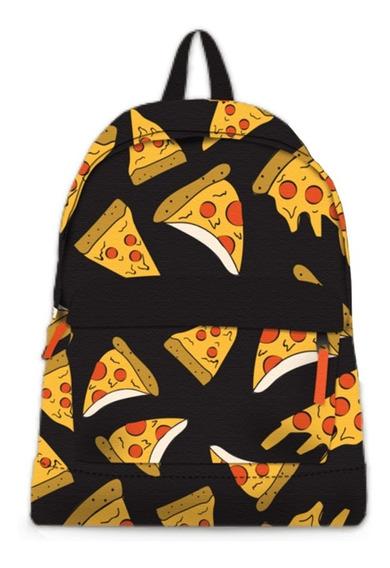 Mochila Grande Escolar Urbana Espalda Pizza Fanpack Cuotas
