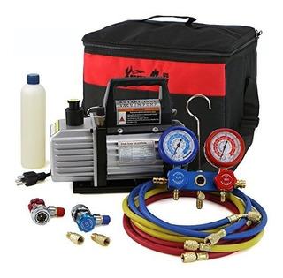 Medidor Kit Refrigeración De Aire Colector Hvac R134a Funda