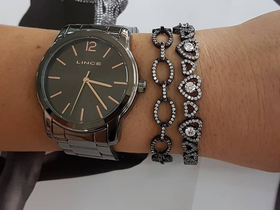 Relógio Lince Feminino Preto Lrn4449l P2px Analógico