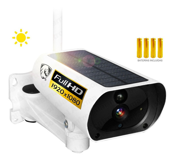 Camara Wifi Ip Solar Full Hd Vigilancia Exterior Seguridad