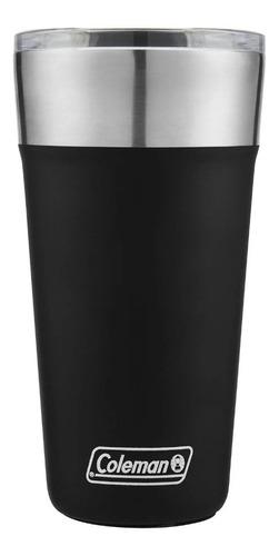 Imagem 1 de 7 de Copo Térmico De Cerveja Coleman 600 Ml Com Tampa Preto