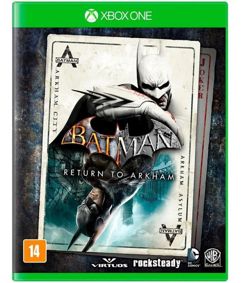 Batman Return To Arkham Xbox One Novo Mídia Física Lacrado