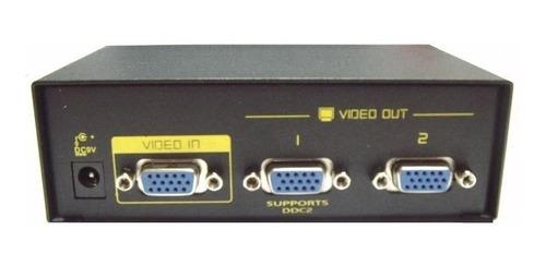 Splitter Vga Amplificado 2 Salidas, 250 Mhz.boleta/factura