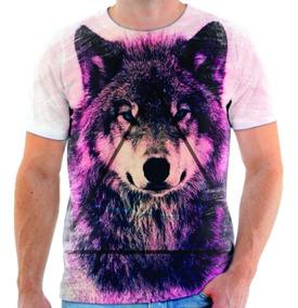 Camisa Camiseta Blusa Animal Lobo M5
