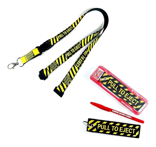 Llavero Y Lanyard Pull To Eject Combo