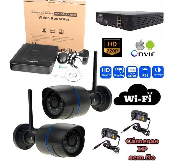 Kit Dvr Com Câmera Ip 720p Wifi