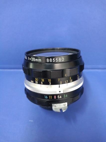 Lente Nikon 28mm Em Ótimo Estado