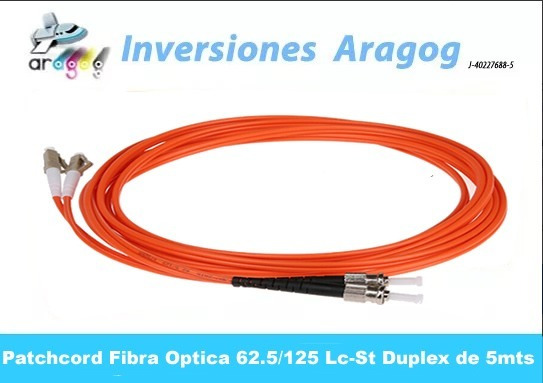 Patchcord Fibra Optica 62.5/125 Lc-st Duplex De 5mts