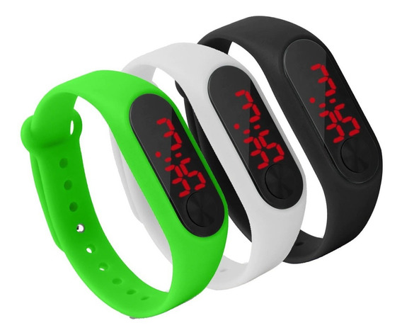 Relógio Pulseira Silicone Digital Led Sport Adulto Infantil
