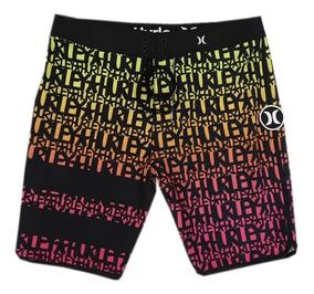 Bermuda Hurley Shorts Phantom Elastano Passeio Original