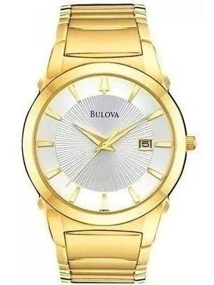 Relógio Bulova Masculino Dourado C/ Calendário Wb21605h