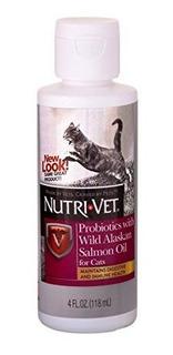 Probioticos Nutrivet Con Aceite De Salmon Salvaje De Alaska