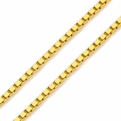 Corrente De Ouro 18k Cordão Veneziana 45cm 1,5g Viagold F25