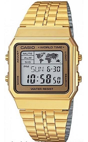 Relógio Casio Vintage World Time A500wga-9df