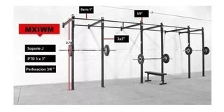 Power Rack Mxiwm 5 Estaciones Equipo Gym Crossfit
