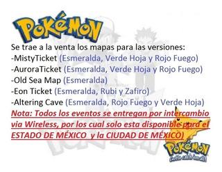 Pokemon Esmeralda / Misty Ticket - Aurora Ticket