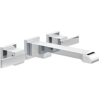 Ara Two Handle Wall Mount Faucet Trim T3567lf-wl Delta