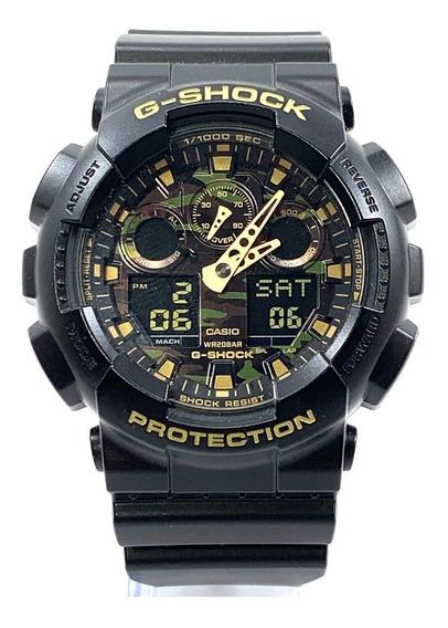Relogio G Shock Ga100 Masculino Camuflado 100% Original