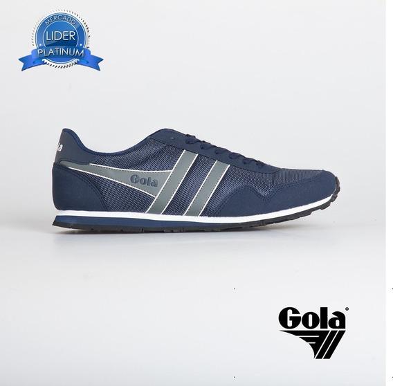 Zapatillas Gola Monaco Ballistic Azul Negro Rojo Gris