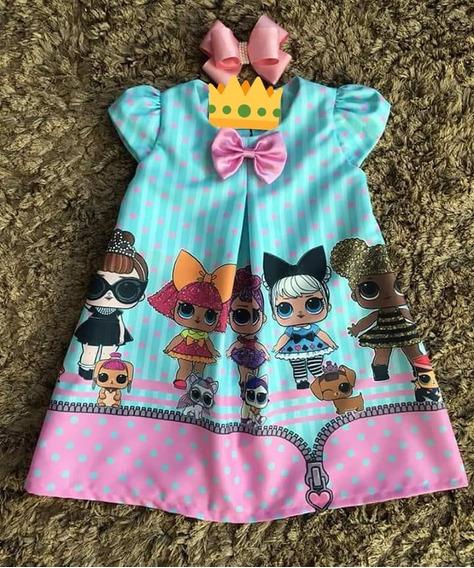 Vestido Infantil Luxo Trapézio Lol Surprise