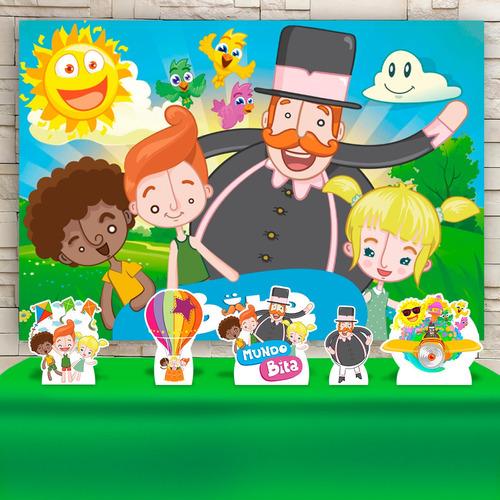 Kit Painel+display Festa Infantil O Mundo Bita