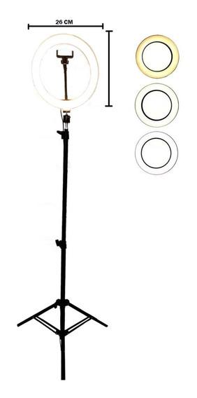 Ring Light De Fotografia Iluminação 120 Led + Tripe 1,6m