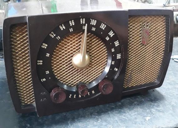 Rádio Antigo Zenith Am Fm Usa 1953 Funcionando Frete Grátis