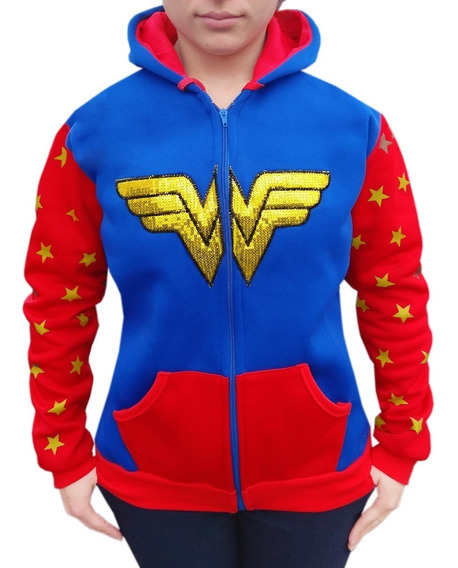 Sudadera Wonder Woman Chamarra Dc Comics Hoodie