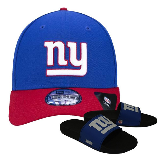Kit Boné New Era + Chinelo Azul New York Giants Nfl
