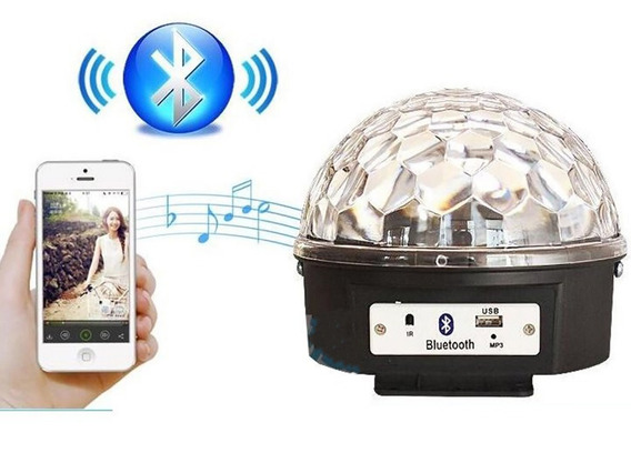 Globo Festas Usb Sd Mp3 Luz Bola Maluca Bluetooth Rgbw 65158