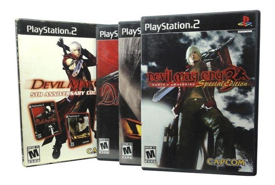 Devil May Cry 5th Anniversary Collection Ps2 Mídia Física